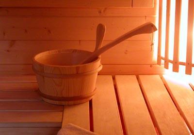 Die Sauna bietet Entspannung pur
