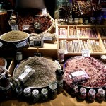 Salzstand auf dem Markt in Avignon